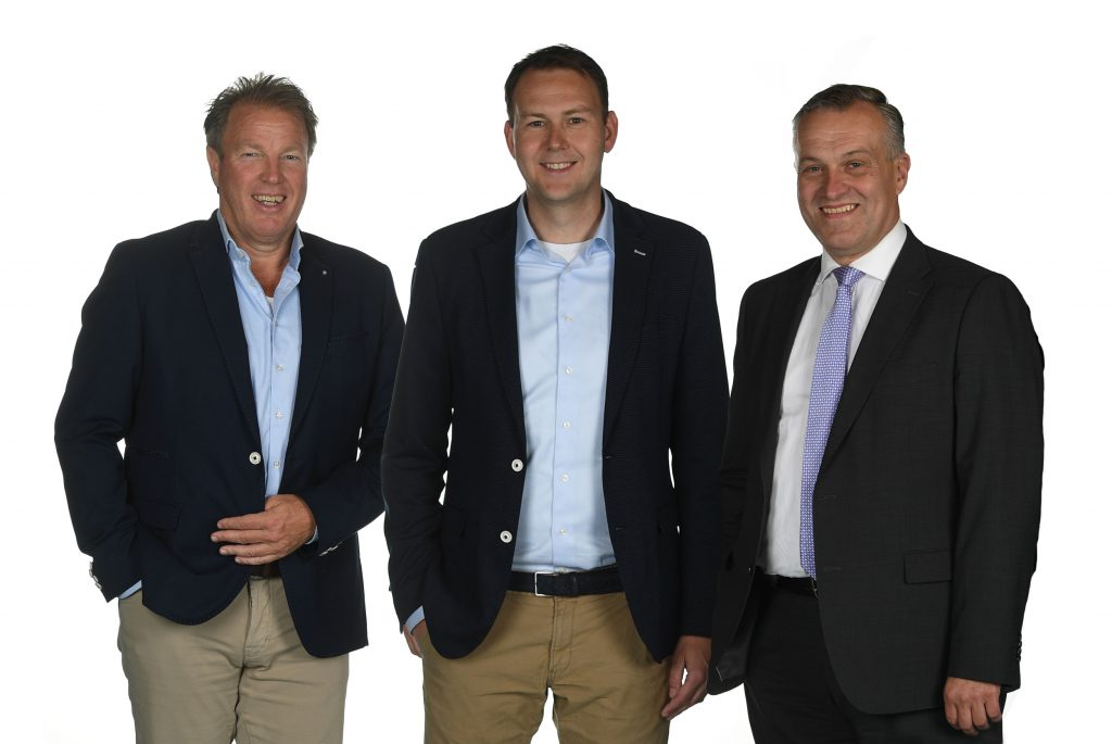 vlnr: Robert van der Werf, Rutger Tulner, René Klotz